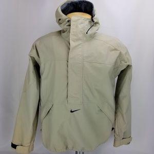 Nike Vintage Windbreaker Rain Jacket Tan MEDIUM Pu
